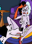 Naughty Cruella De Vil gets fucked hard after her workout