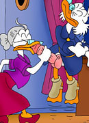 Cute Mini Mouse craves Flintheart Glomgold's cock and got hardly bent over like a dog