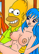 Unsuccessful Marge gets screwed to the max by Santas Little Helper's dong and gets her face creamed in sperm