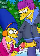 Hot Lisa Simpson getting forced to suck as whipped