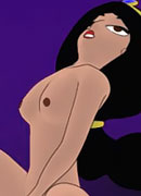 Princess Jasmine getting penetrated by Sultan's dick and coming