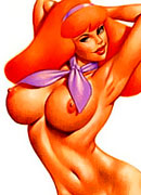 Daphne Blake was penetrated by Scooby's meaty cock in dream