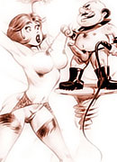 Jane Jetson with soft titties is bent over with dildo in the bed room