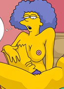 Maggie Simpson with swollen melons gets bombed between succulent milkers