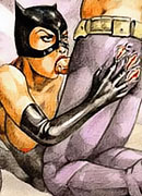 Sexy and drunk Barbara Gordon with nice tits dominates