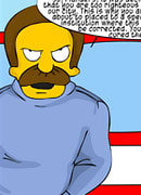 Innocent Flanders was rammed and takes cumload facial