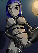 Blackfire is nailed with clips and bursting orgasm