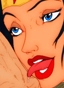 Zatanna with great sextoy taking on Martian's hulking dick before getting drilled hardly on her mouthwatering hole