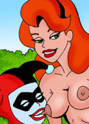 Unlucky Poison Ivy with huge strap-on