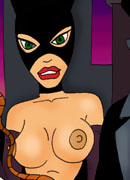 Catwoman stripping her virgin cherry and getting attacked by throbing dick