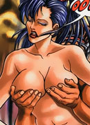 Mystique strips naked and blows inside a cave