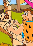 Dirty and hot Wilma Flintstone cries loudly and gets her rack filled at school