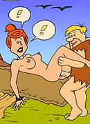 Betty Rubble with tempting nipples gets hardly fucked between melons and squirts her twat juice