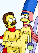 Innocent Patty and Selma gets her boobs railed by Martin's dick